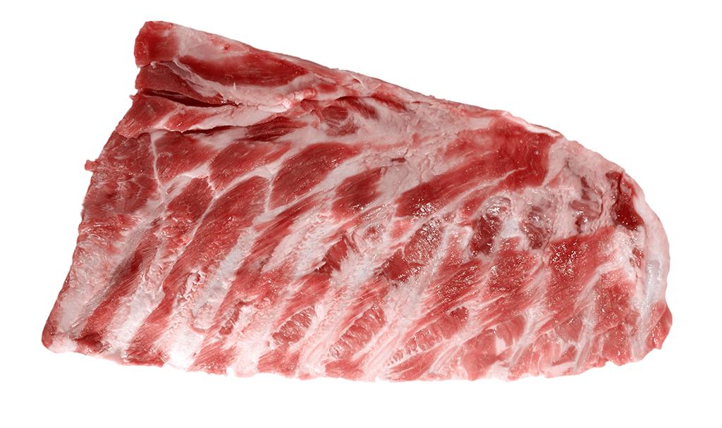 untrimmed pork spare ribs