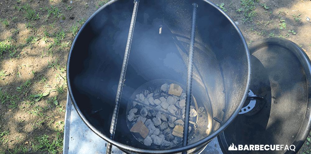 inside pit barrel cooker