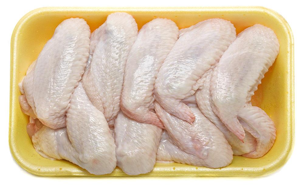 chicken wings in packaging