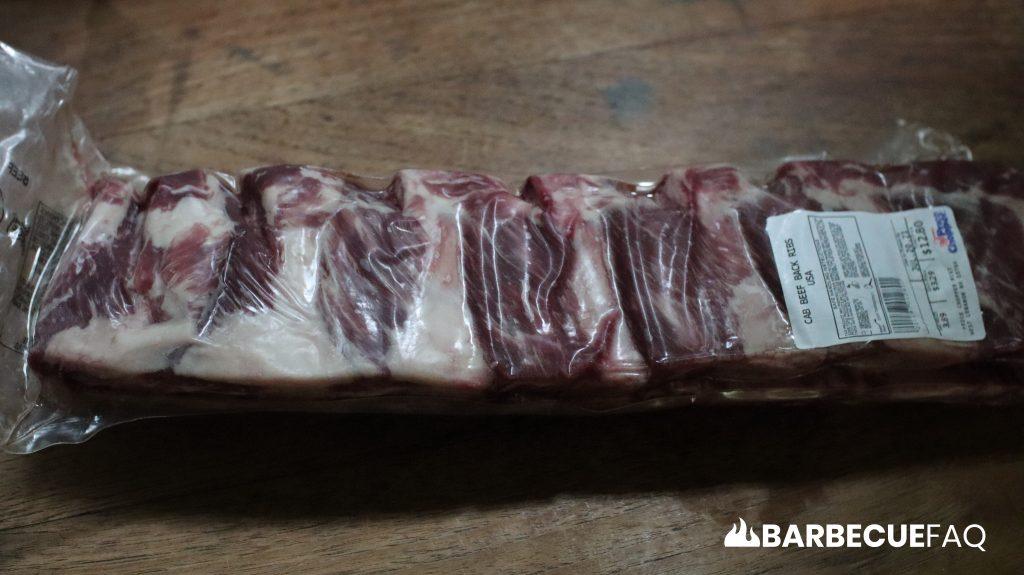 beef back ribs vacuum sealed