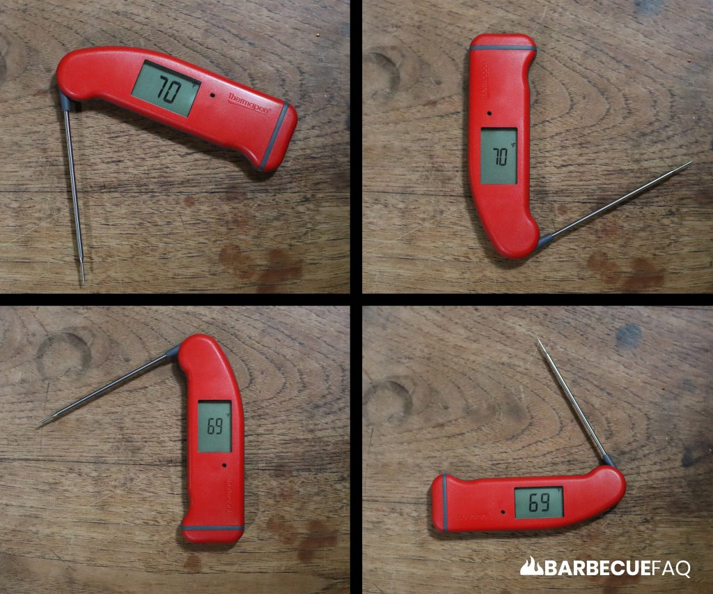 thermapen auto-rotating display